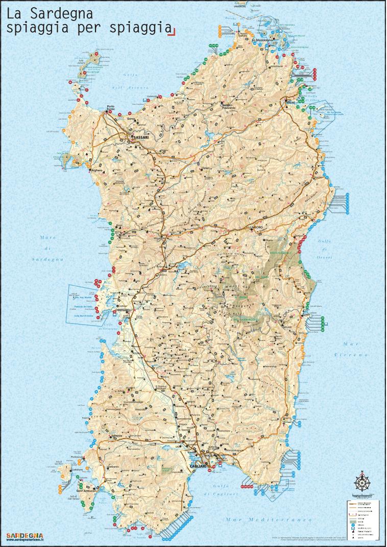Cartina Sardegna Immagini.Cartina 240 Spiagge Indimenticabili Della Sardegna Locanda S Anninnia