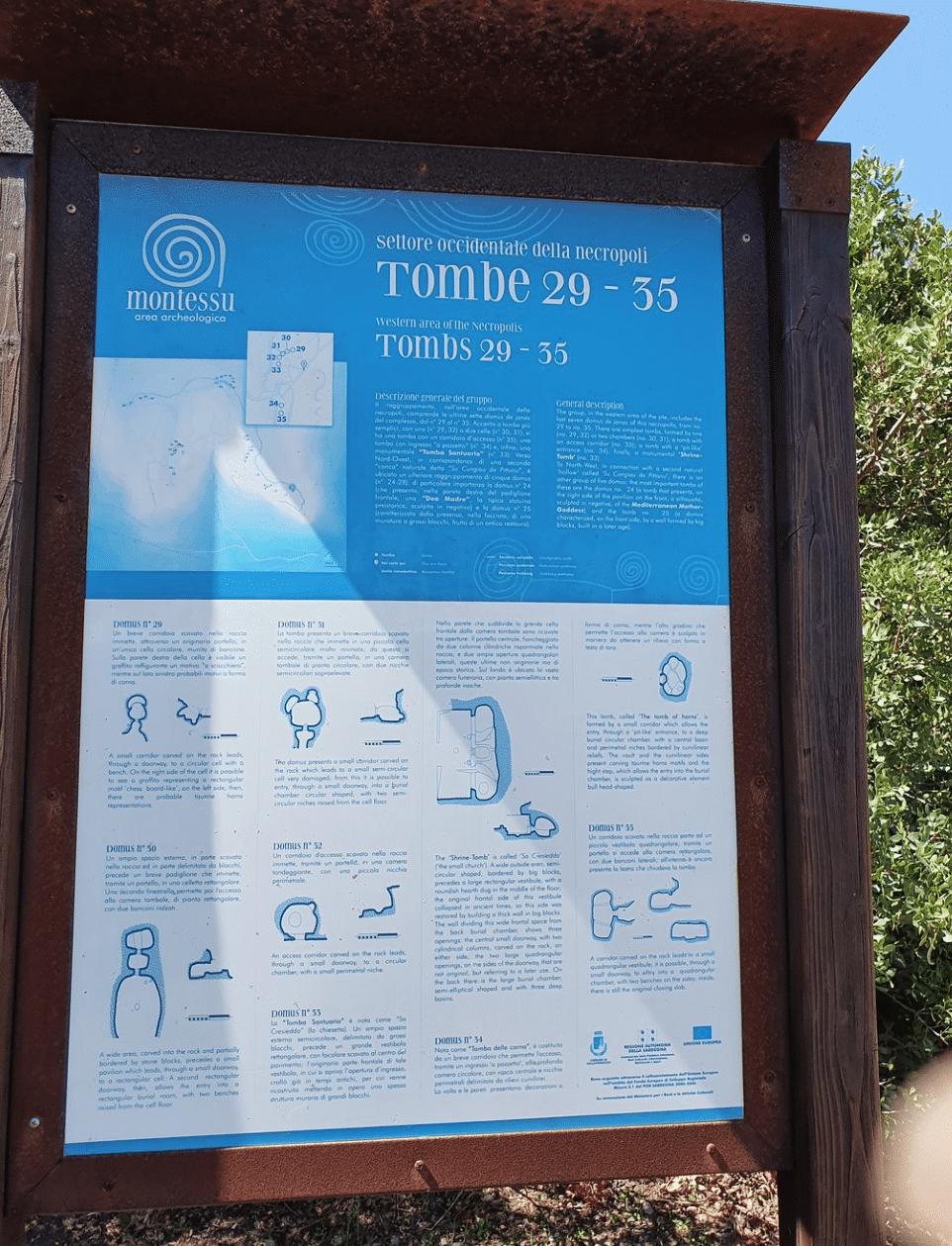 Area archeologica di Montessu - necropoli