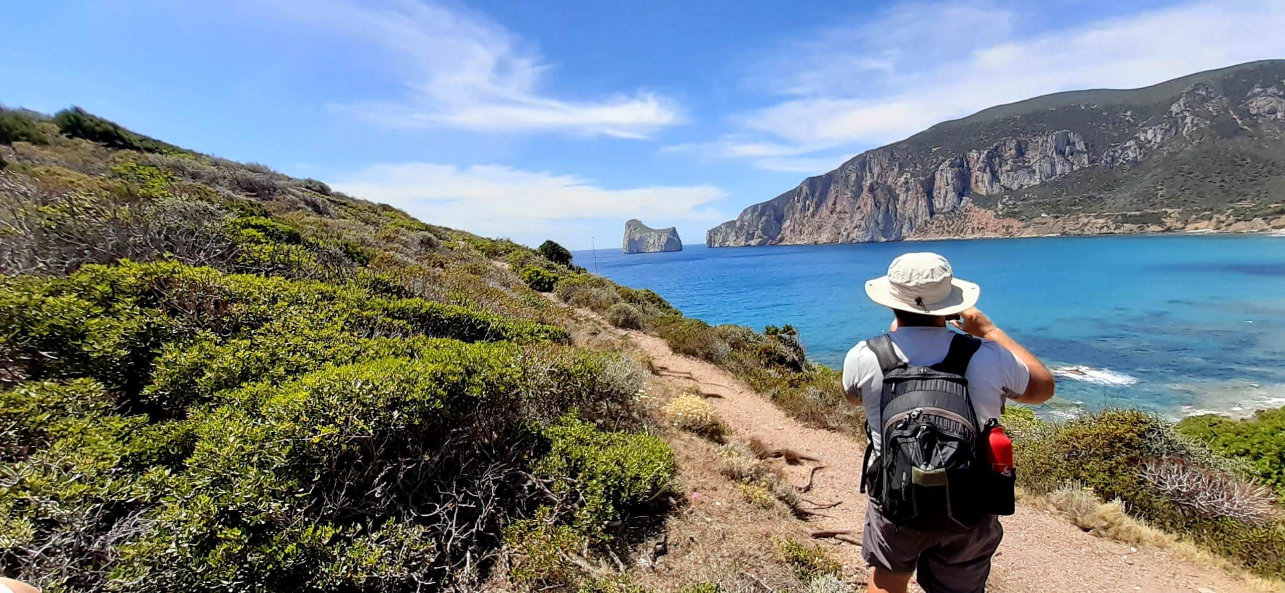 Panoramica Pan di Zucchero - Trekking miniere nel blu